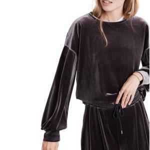 Madewell || NWT Velvet Balloon Sleeve Sweatshirt